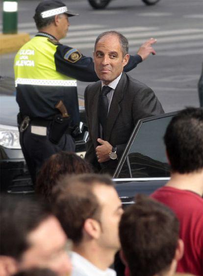 El presidente de la Generalitat Valenciana a su llegada al Tribunal Superior de Justicia
