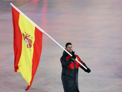 Lucas Eguibar, durante la ceremonia de inauguración de los Juegos.