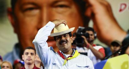 Maduro, en un acto este jueves en la localidad de Margarita.