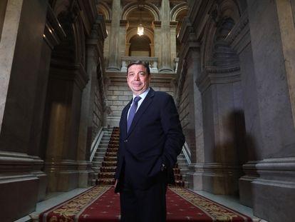 Luis Planas, ministro de Agricultura, Pesca y Alimentación, el 31 de mayo en la sede del ministerio.