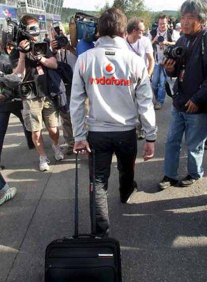 Fernando Alonso, ayer en el circuito de Bélgica.