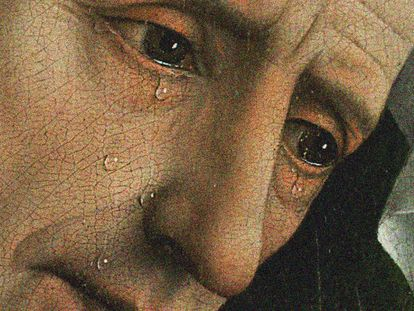 La representación del llanto en la sociedad occidental no ha sido demasiado frecuente, así que ver a celebridades  vulnerables en Instagram nos descoloca y sorprende. En la imagen, detalle de la pintura 'El Descendimiento', de Van der Weyden.