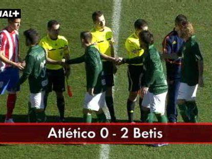 Atlético, 0 - Betis, 2