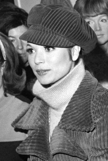 La actriz italiana Elsa Martinelli en 1967.