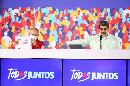 Nicolás Maduro junto al presidente de la Asamblea Nacional, Diosdado Cabello, este mes en Caracas.