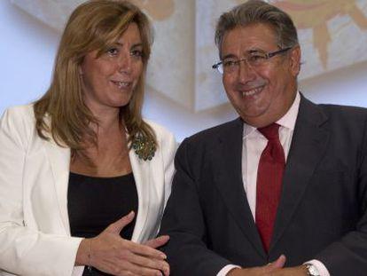 Susana Díaz y Juan Ignacio Zoido, en septiembre pasado.