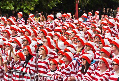 Asistentes al evento del record mundial de Wallies celebrado en 2011 en Dublin (Irlanda)