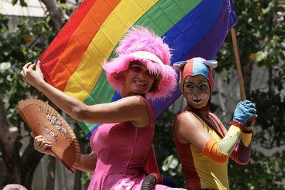 Participantes en una manifestación  gay de La Habana en mayo de este año.