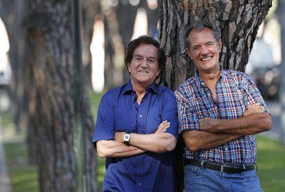 Manuel de la Calva (izquierda) y Ramón Arcusa, el Dúo Dinámico, en Madrid en julio de 2016.
