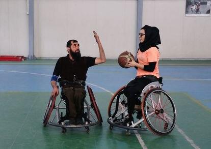 Nilofar Bayat durante un entrenamiento en Afganistán el pasado mes de febrero.