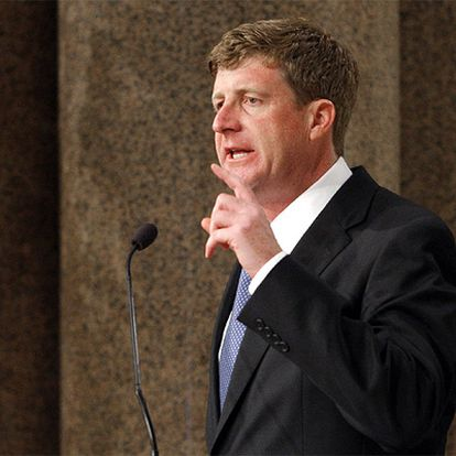 El congresista Patrick Kennedy, hijo de Edward Kennedy, durante una misa en recuerdo de su padre en agosto de 2009.