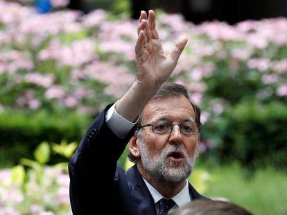 Mariano Rajoy, durante su estancia en Bruselas.