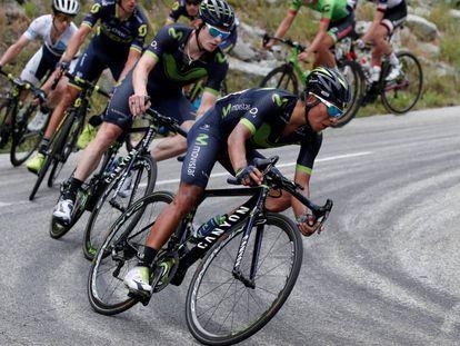 Nairo Quintana en la 17ª etapa.