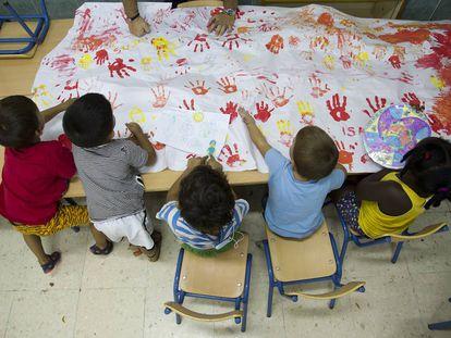 Aula para los más pequeños (a partir de 3 años) de la escuela en Málaga.