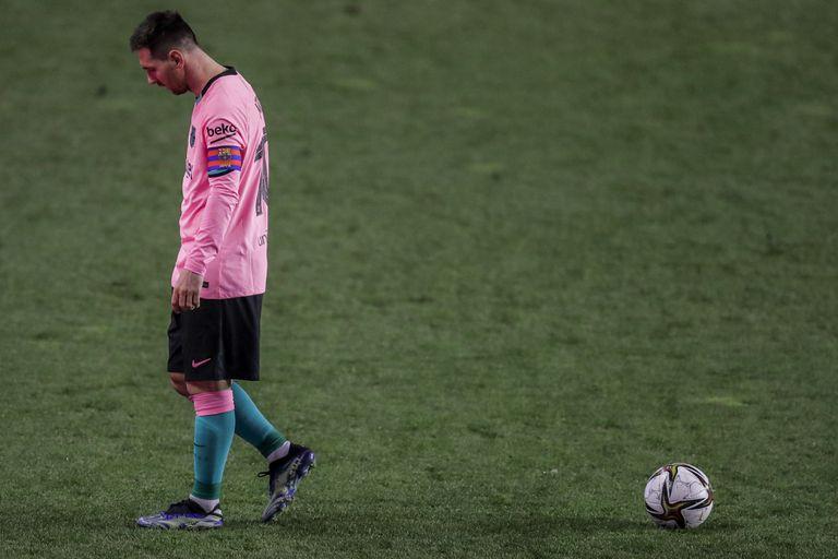 Leo Messi, durante la partita di Copa del Rey contro il Rayo.