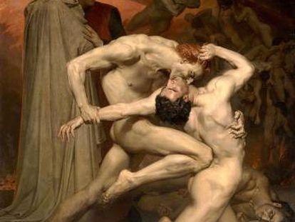 'Dante y Virgilio en el infierno', cuadro de Bouguereau.