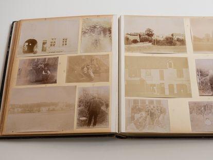 Álbum antiguo de fotos adquirido por Paco Gómez en el Rastro