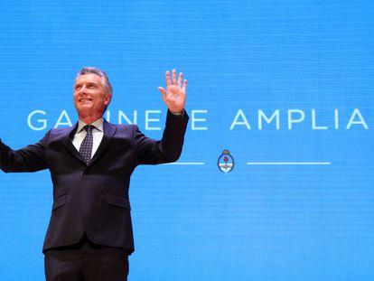 El presidente Mauricio Macri participa de la reunión de Gabinete ampliado con 1.000 altos funcionarios de Gobierno.
