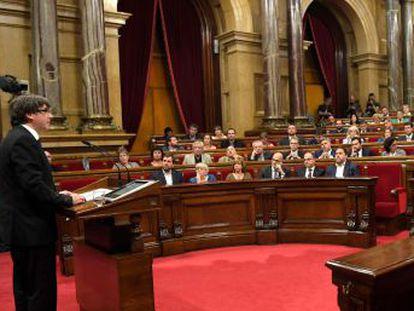 """""""Con los resultados del 1 de octubre, Cataluña se ha ganado el derecho a ser un estado independiente"""", dice el presidente de la Generalitat"""
