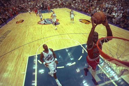 Michael Jordan en un partido de la NBA, el 8 de junio de 1997.