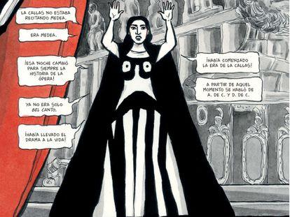 Detalle de una viñeta de 'Yo soy Maria Callas', de Vanna Vinci, editado por Planeta Cómic.
