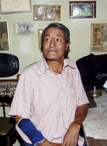 El deportista en su casa de Tegucigalpa.