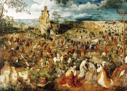 'El camino del calvario', de Pieter Brueghel, en el Museo Kunsthistorisches de Viena.