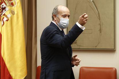 El ministro de Justicia, Juan Carlos Campo, en una comparecencia en diciembre ante la Comisión de Justicia del Congreso.