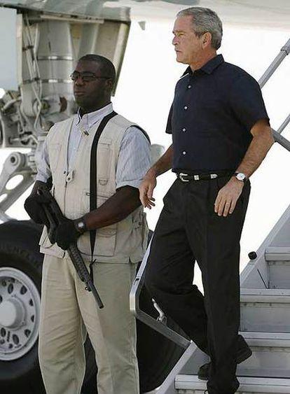 George Bush, en la visita que realizó a Irak a principios de mes.