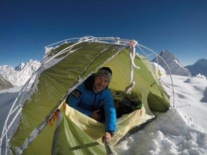 El alpinista Sergi Mingote, en una de sus expediciones.