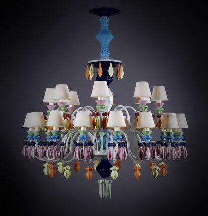 Lámpara Belle de Nuit, de Lladró, con lágrimas de porcelana. Su precio es de 10.900 euros.
