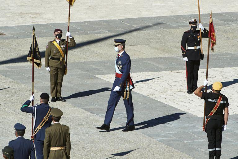 Felipe VI en los actos del 12 de octubre en el Palacio Real.