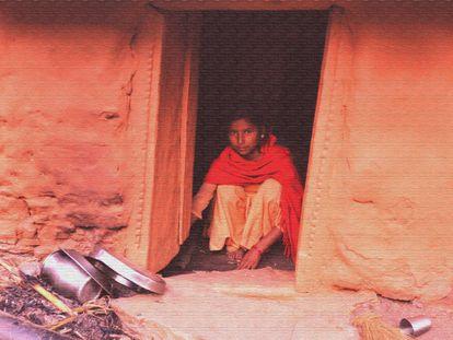 Una niña nepalí, aislada por el chaupadi