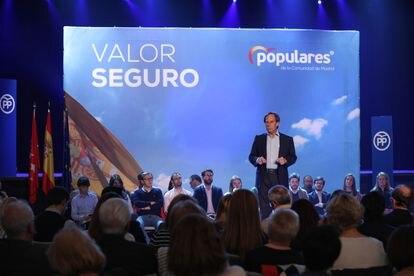 El alcalde de Alcobendas, Ignacio García de Vinuesa, en un acto de campaña del PP de su ciudad, en 2019.