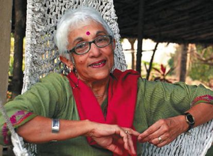 Lalita Ramdas, en su casa de Mumbai