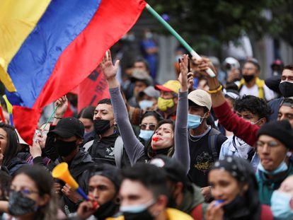 Una manifestación contra la reforma tributaria del Gobierno de Iván Duque, en Bogotá, el pasado 29 de abril.