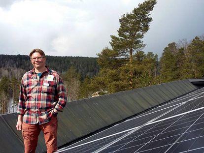 Tom Selänniemi, director del centro de visitantes de Haltia, junto al parque nacional de Nuuksio.
