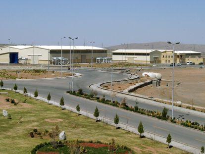 Vista de la planta de enriquecimiento de uranio de Natanz, en Irán.