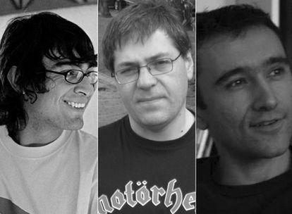 De izquierda a derecha, Tryno Maldonado, Carlos Busqued y José Morella