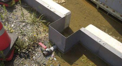 Fotografía facilitada por TEPCO que muestra una fuga de agua.