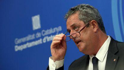 El consejero de Interior, Joaquim Forn.