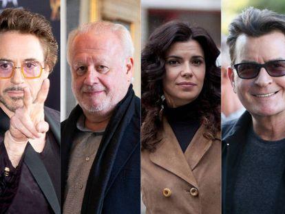 Robert Downey Jr, Juan Echanove, Pilar Punzano y Charlie Sheen, algunos de los intérpretes despedidos de sus series.