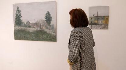 Dos cuadros de la exposición 'De Fougères a Alfama' del pintor Miguel Galano, en la galería Utopia Parkway.