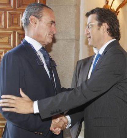 El presidente de la Xunta saluda al Mario Conde