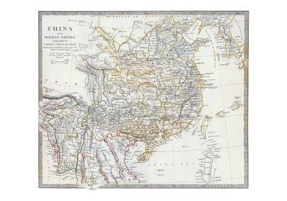 Mapa de China y Birmania con partes de Cochinchina y Siam (Chapman & Hall. Londres, 1844)