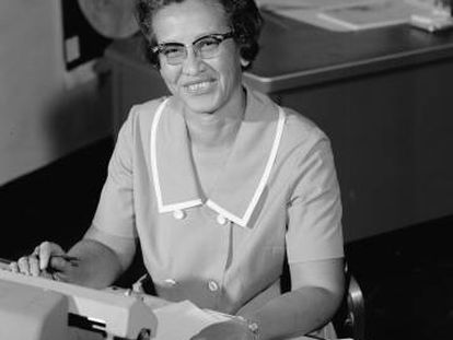 La matemática Katherine Johnson en la NASA.