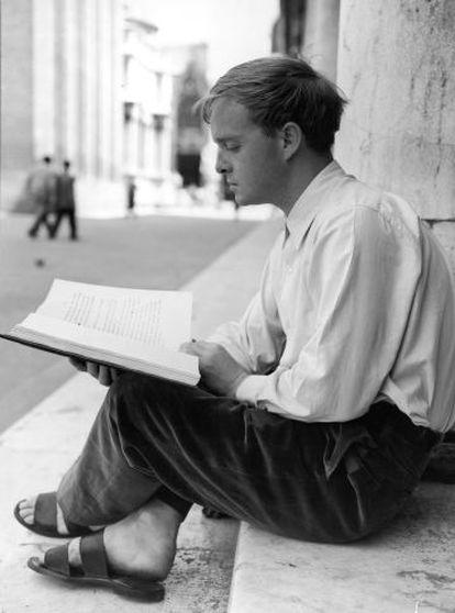 El escritor Truman Capote, en Venecia en 1950.