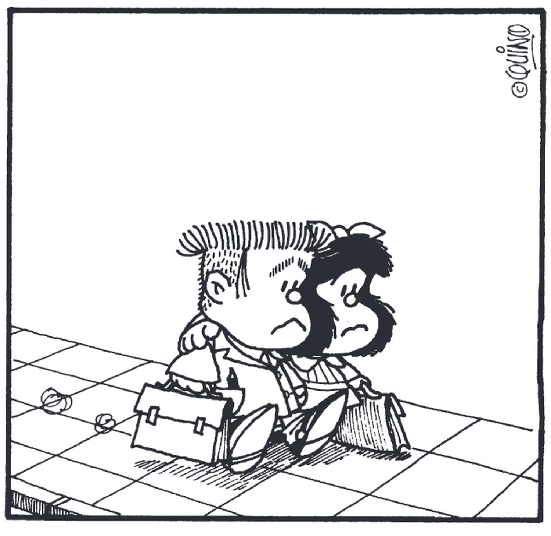 Viñeta de Manolito y Mafalda de 'El amor según Mafalda' de Quino, publicado en Lumen Gráfica.