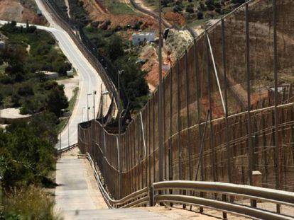 Vista de la valla de Melilla.