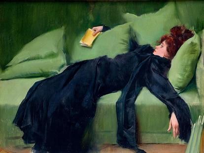 'Joven decadente después del baile', cuadro de Ramón Casas.